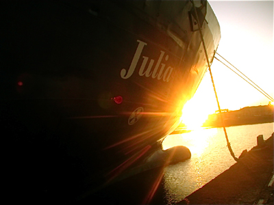 The Julia at sunset
