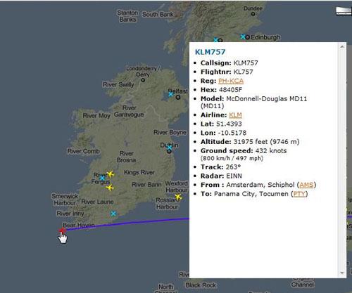 Flights Over Ireland